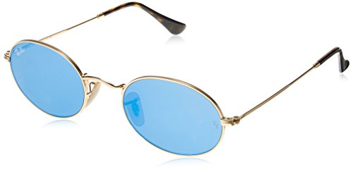 Ray-Ban Metal Unisex Non-Polarized Iridium Round Sunglasses, Gold, 51 - Ray Ban Round Aviator