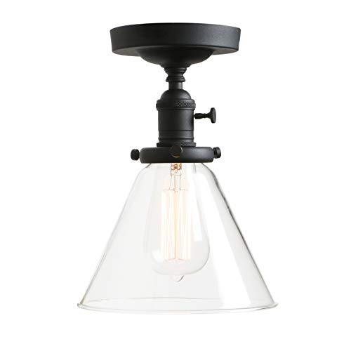 Clear Glass Pendant Track Lighting in US - 6
