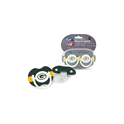 Amazon.com: NFL Green Bay Packers 2 Pack Chupete (suspendido ...