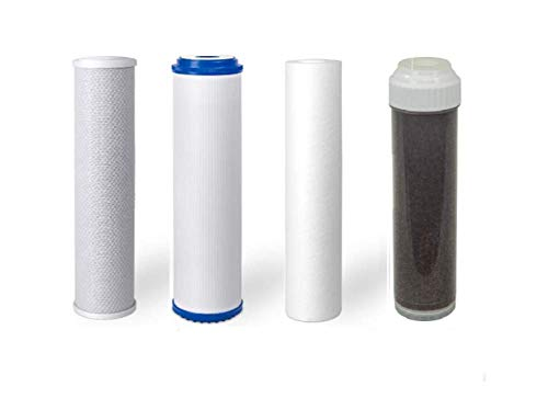 Premier Replacement Filters for 5 or 6 Stage Aquarium Reef Reverse Osmosis RO/DI Water Systems (Sediment, GAC, Carbon, 2 DI Filters) (5 Stage)