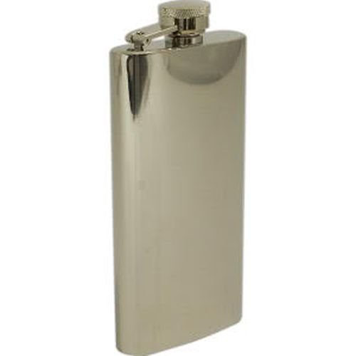 Stainless Steel Chrome Plated Flask, Boot, 5.5 oz., FS1055 by - Flask Excalibur