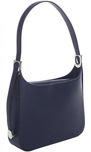 JOSYBAG Ledertasche ASCONA ledergefüttert Tasche mit 3-fach verstellbarem Schulterriemen WELTKLASSE blau uAJ5nr