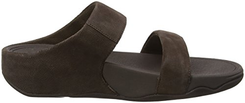 30 Sandali Lulu Marrone Chocolate Check Slide Donna Fitflop Shimmer Sandals qxaUFwWfz