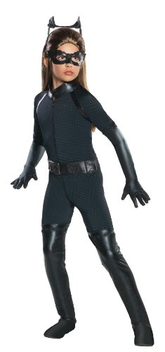 Batman Dark Knight Rises Child's Deluxe Catwoman Costume - Medium (Batman Black Knight Rises)