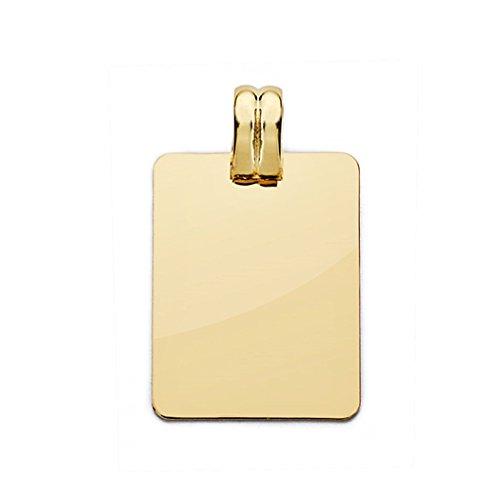 18k Pendentif en or plaque de 24mm lisse. [AA0519]