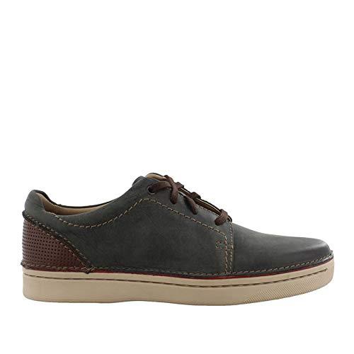 CLARKS Men's Kitna Stride Sneaker, Slate Leather, 9 M US ()