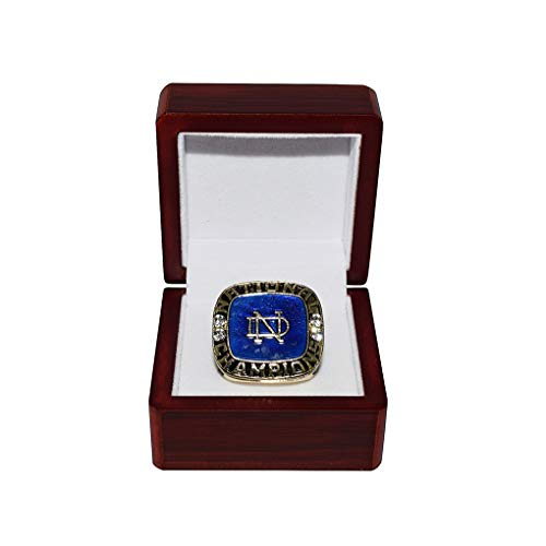 Bcs Champions Football - UNIVERSITY OF NOTRE DAME FIGHTING IRISH (Coach Ara Parseghian) 1973 SUGAR BOWL BCS NATIONAL CHAMPIONS Vintage Rare Collectible Replica NCAA Football Gold Championship Ring with Cherrywood Display Box