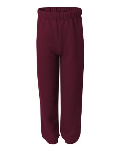 Jerzees Youth 8 oz. NuBlend 50/50 Sweatpants, Maroon, L (8 Oz Sweatpant)