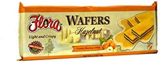 Wafer Cookies by Flora - Hazelnut Wafers Imported from Italy - 5.3 oz. (1