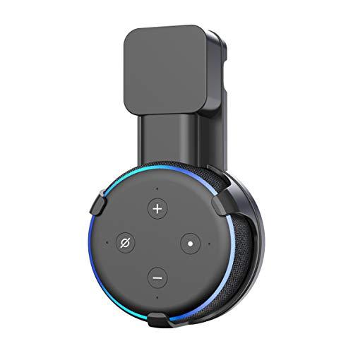 Soporte para Dot (3.ª generacion) Cozycase, gestion de Cables incorporada sin Tornillos, Estuche Compacto en cocinas, bano y Dormitorio - Negro