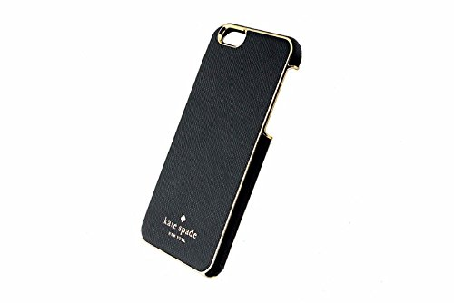 Kate Spade New York Wrap Case Saffiano Leather iPhone 6 (Black/Gold)