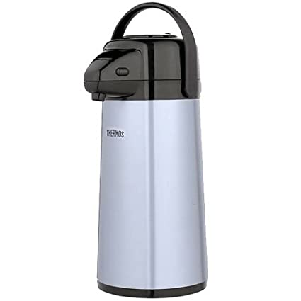 Thermos Glass Vacuum Insulated Pump Pot, 2 quart, Metallic Gray PP1920TRI2