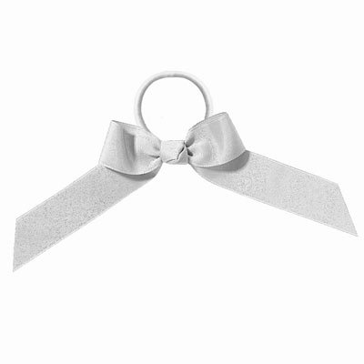 EMC Sports Team Bow, White, One Size fits All (Cheerleading Hair Ties)