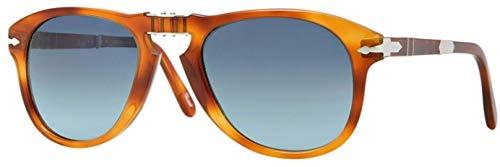 Persol PO0714SM 96/S3 Light Havana Aviator Folding Steve McQueen Sunglasses -