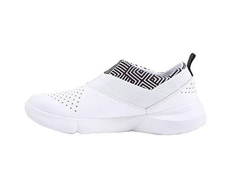 UIN Damen Naxos Mode Microfaser Slip-On Schuhe Weiß