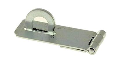 "Zinc Plated Hasp 1-3/4"" - Antique Modern Furniture Drawers Cabinet Doors Chest Box Lids Padlock + Free Bonus (Skeleton Key Badge) LQ-50047"