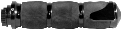 Avon Metric Cruiser Grips with Avon Boss - Air Cushioned - Black Anodized (Metric Motorcycle Grips)
