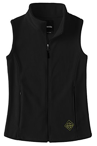 Wantdo Women's Outdoor Full Zipper Fleece Vest Black M Athletic Windproof Vest