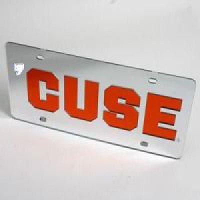 Syracuse Orange 'cuse License Plate - Silver / Mirrored