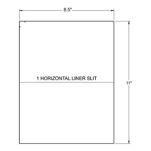 """8.5"""" x 11"""" White Full Sheet(1 Horizontal Slit), 1 label per Sheet (250 Sheets per Carton)"""