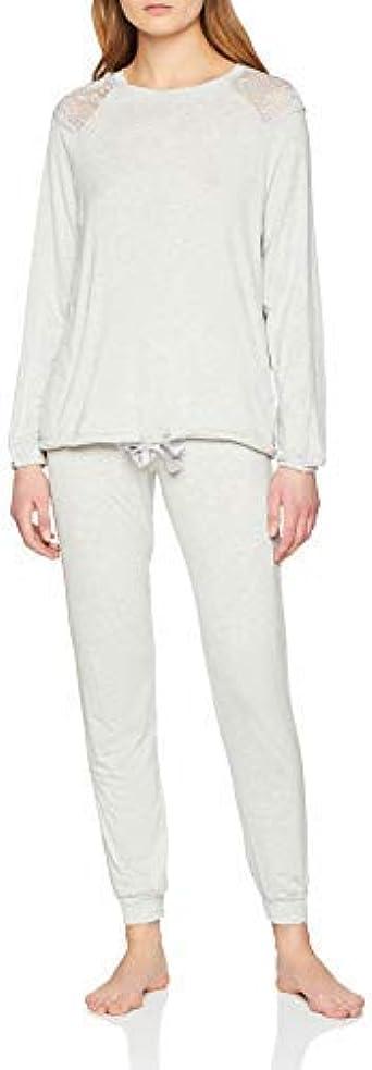 Womens Secret St PJ Conjuntos de Pijama, Gris (Grey 46), X ...