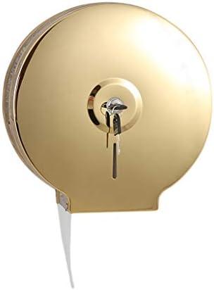 SDF25 ロックウォールで単ロールジャンボ組織ロールディスペンサーは、バスルームロール紙がホームとホテルのために、コアアダプタ、コマーシャル・トイレットペーパーディスペンサーでスタンドマウント (Color : Gold)