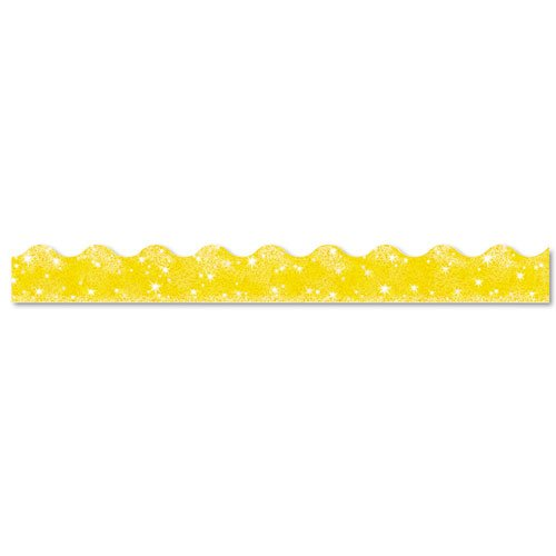 TREND ENTERPRISES, INC. Terrific Trimmers Sparkle Border, 2 1/4 x 39 Panels, Yellow, 10 per Set