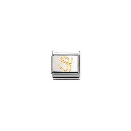 Nomination 030128 - Maillon pour bracelet composable - Femme - Acier inoxydable et Or jaune 18 cts