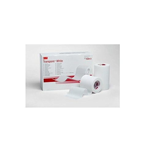 3M Health Care 1534-3 Dressing Tape, 3'' x 10 yd. Size, White (Pack of 40)