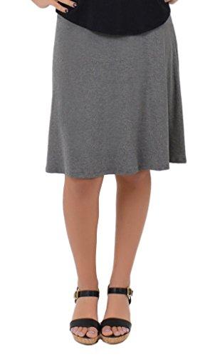 Gray Stretch Skirt - 3