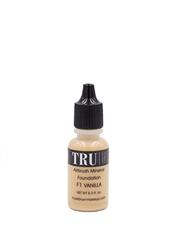 Tru Airbrush Makeup - Water and Mineral Foundation - F1 (Vanilla), Fair Skin Complexion 0.5oz, Air-F1 (Airbrush Kit Foundation Dinair)