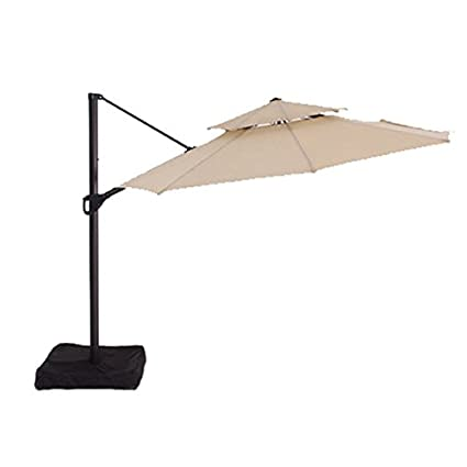 Charmant Two Tiered Offset Umbrella Replacement Canopy   RipLock 350