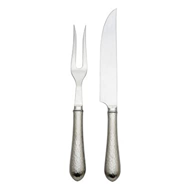 Reed & Barton Hammered Antique 2-Piece Carving Set-0