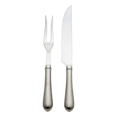 Reed & Barton Hammered Antique 2-Piece Carving - Barton Hammered Reed Antique And