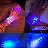 Magic Purple 2 In 1 UV Graffiti Black Light Combo Creative Stationery Invisible Ink Pen Marker pen Highlighter Office