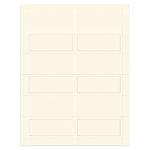 Pearl Border Place Card - Gartner Studios Pearl Ivory Place Cards, 48 Count (83004)