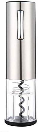 ZLSP Abridor de vinos eléctricos para el hogar, camareros, sacacorchos, Utensilios de Vino de Metal para el hogar, Adecuado para Cocina, Restaurante, Chateau y Bares (Color : Silver)