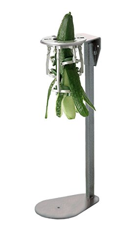 Tellier Cucumber Peeler with Painted Iron Stand by L. Tellier