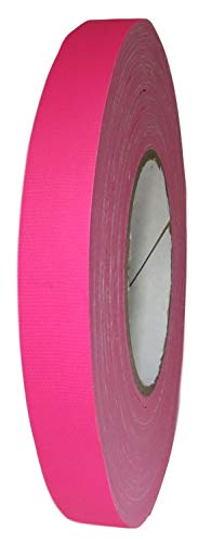 T.R.U. CGT-80F Fluorescent Gaffers/Spike Tape Laminated with Rubber Adhesive.60 Yards. Available in Multiple Sizes and Colors. (Fluorescent Pink, 3/4 in.) ()