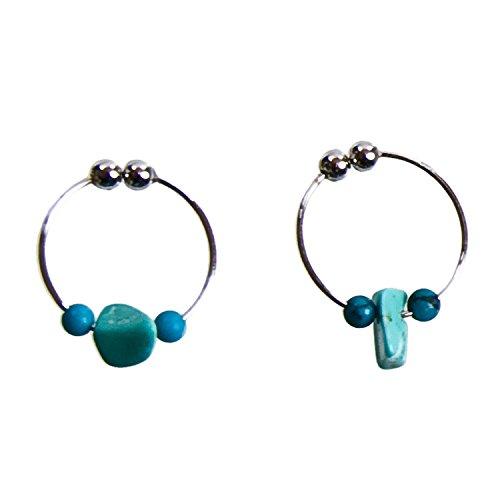 [해외]Blau krone 비 홀 귀걸이 후프 청록색 하 ざれ 석 여름 마치 귀걸이 처럼 귀걸이 귀 엽 네요 단지 ブラウクロ?ネ / blau krone non-hole earrings hoop turquoise sazarestone summer earrings like earrings just pinch ing braukrone