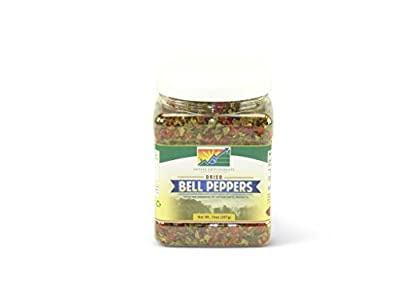 Mother Earth Products Dried Mixed Bell Peppers, Red And Green, Quart Jar
