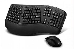 Adesso Adesso 2.4Ghz Rf Wireless Tru-Form Wave Ergonimic Keyboard And Laser Mouse. ''Product Category: Digital Cameras/Keyboards/Input Devices/Keyboards''