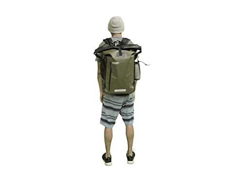 Cor Waterproof Dry Bag Backpack with Padded Laptop Sleeve 40 Liter Green a9d7d421fd