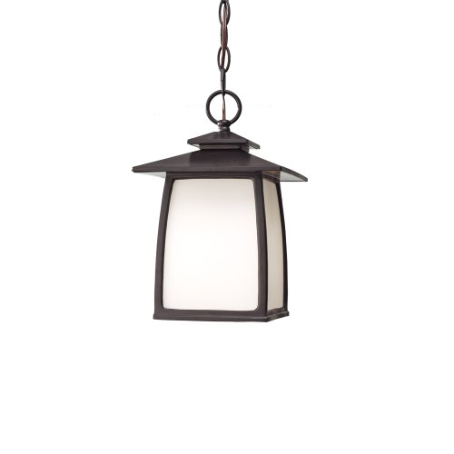 (Feiss OL8511ORB Wright House Outdoor Lighting Pendant Lantern, Bronze, 1-Light (8