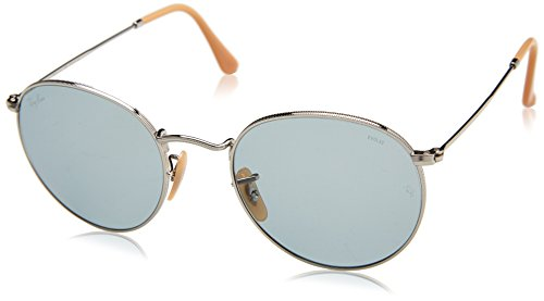 Ray-Ban Men's Metal Round Sunglasses, Silver, 53 - Ray Camouflage Ban