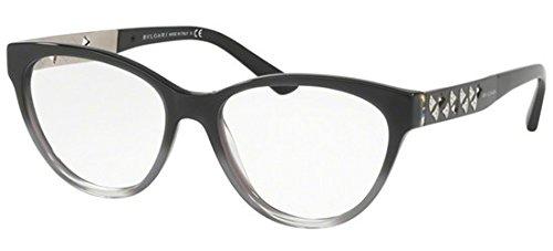 Bvlgari Women's BV4154B Eyeglasses Black Grad Met Grey/Tr Grey 52mm