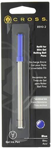 (Cross Slim Gel Rolling Ball Refill, Blue, 1 Per Card (8910-2))