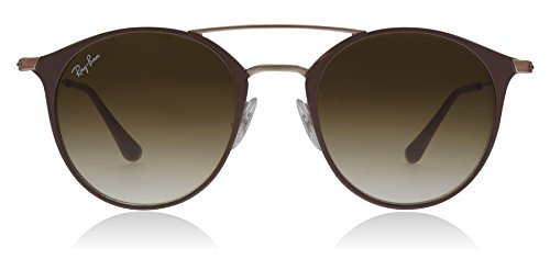 Ray-Ban 0rb354690715149steel Unisex Round Sunglasses, Copper Top on Beige, 48 - Ban Ray Top Sunglasses Bar