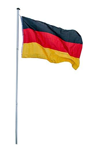 Fahnenmast Aluminium 2in1 inkl. Holland- & Deutschlandflagge, 6,2 Meter, LILIMO ®