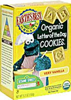 Earth's Best Sesame Street Organic Letter of the Day Cookies Very Vanilla -- 5.3 oz -